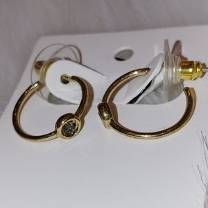 ANN TAYLOT GOLD FLAT HOOP EARRINGS